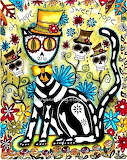 Mexican Day of the Dead Cat