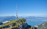 Antenna tower on the Niederhorn, Switzerland