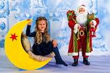 Cute girl with Santa