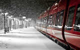 station train-winter