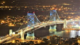 Ben Franklin Bridge at night Philadelphia Pennsylvania