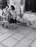 Friends in a street