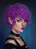 Purple Pixie Cut Punk