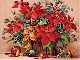 #Festive Poinsettia Basket by Barbara Mock