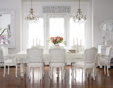 House interior, white diningroom