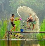 water splash fun