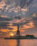 Statue of Liberty Sunset - New York
