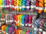 Hanks of Colorful Yarn