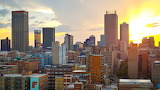 South African city sunset