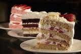 ^ Cake slices