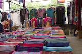 Fethiye market clothes stall