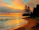 Sunset on Lake Baikal by Sergey Belov