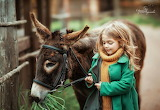 girl with donkey