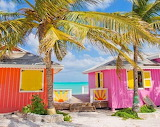 Bright vibrant colors on a pair of cottage homes from Turks
