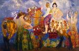 Campesinos de Gandia by Hermen Anglada Camarasa 1928