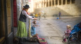 City, people, street, doll, puppets, girl, woman, child