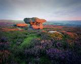 British landscape at sunset