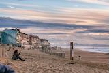 Beach sand town houses