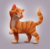 Ginger cat by Jenny Defensor