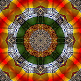 Colorful kaleidoscope abstract