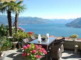 Lake mountain balcony view mood pleasure relaxation italy st