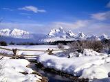 Grand Tetons in Winter Wyoming