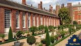 Gardens of Hampton Court, England UK by Karen Goodyear Krekeler