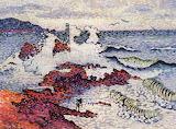 The Mediterranean, East Wind by Henri-Edmund Cross 1902