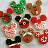 ^ Christmas Mickey cookies