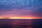 beach pink sunset moon