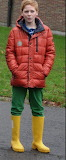 Boy in rubber boot