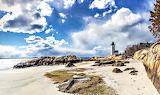Annisquam Lighthouse & Beach Gloucester Massachusetts USA