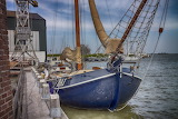 Old beautiful dutch boat