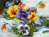 ^ Pansies in the Snow ~ Julie Ford Oliver