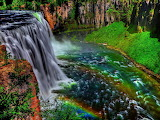Colorful water fall south america