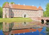 Voergaard Castle, S. Face & Bridge