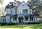 Fabolous blue victorian house