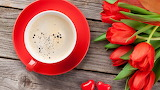 Red-tulips-cup-coffee