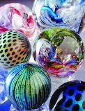 Beautiful glass marbles
