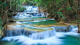 #Kanchanaburi Waterfall Thailand