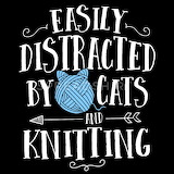 Easily-distracted-by-cats-and-knitting-shirt-womens-organic-t-sh