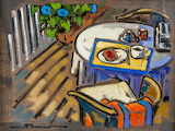 Jeannette Perreault, Petit déjeuner sur la galerie
