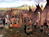 1874-Jules Tavernier-Sioux Encampment