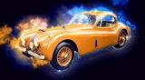 ^ Vintage Jaguar XK 140 Coupe