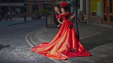 Red & Black Wedding Dress