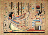 Maat and Isis - Egyptian Papyrus