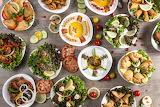 Lebanese meal!! We love it!!!