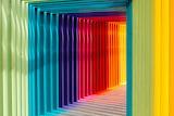 Colorful rainbow walkway