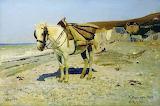 Рєпін І.Ю. Кінь для збирання каменів у Велі
