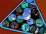 Retro-dots-pool-table-balls